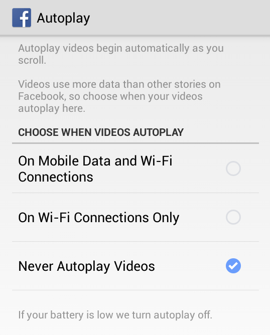 Disable Video Auto-play within Browser