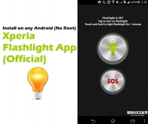 Xperia Flashlight App: Works charm on any Android (No Root)