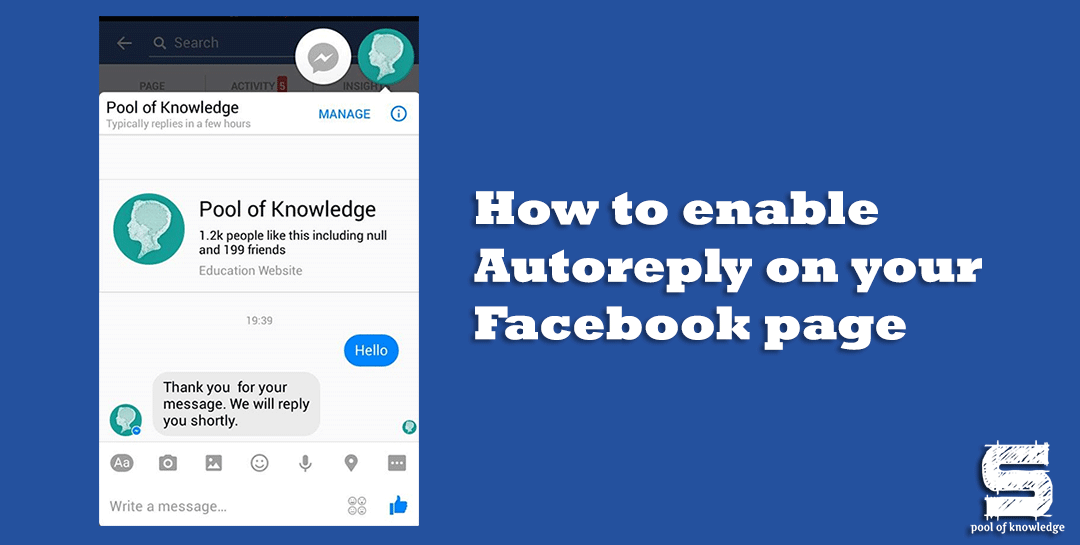 How to enable Autoreply on your Facebook page