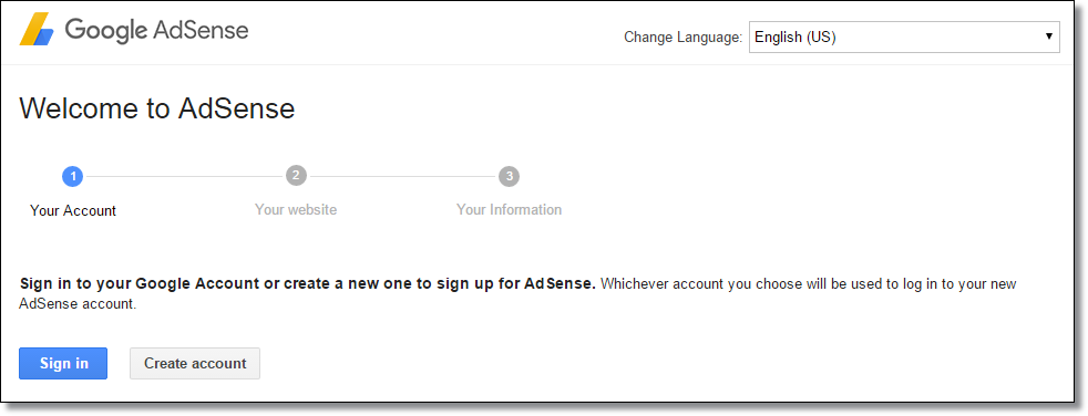 Create AdSense Account
