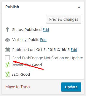 Send Push Notification