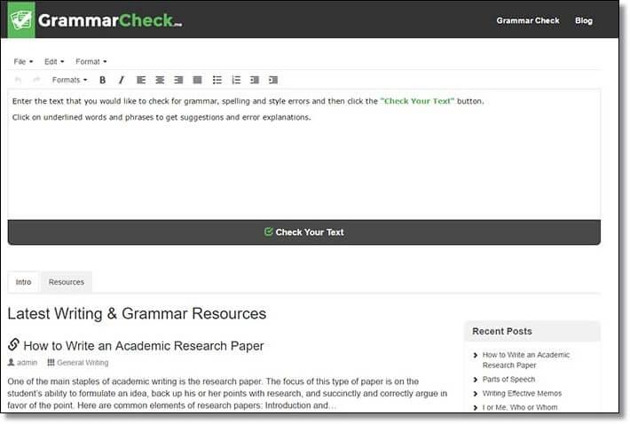 English grammar essay