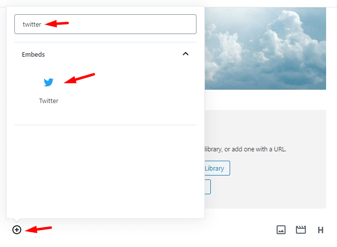 Adding Twitter embed in WordPress Post content.