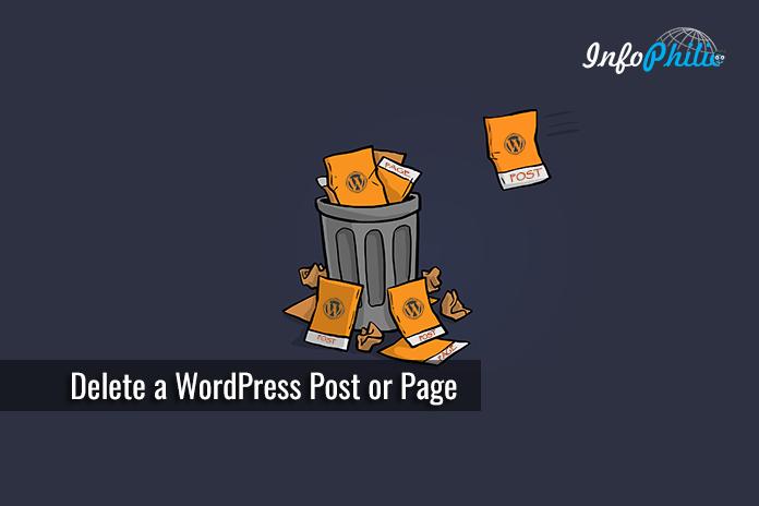 Delete a WordPress Post or Page