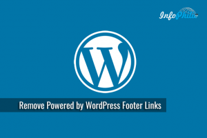 How to Remove Powered by WordPress Footer Links