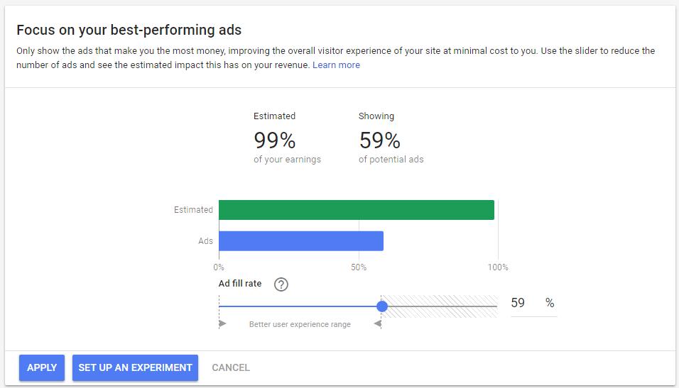 ad balance in AdSense