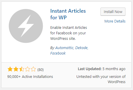 Installing Instant Articles for WP Plugin
