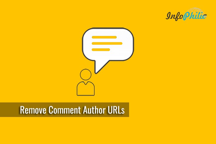 Delete All Existing Comment Author URLs in WordPress