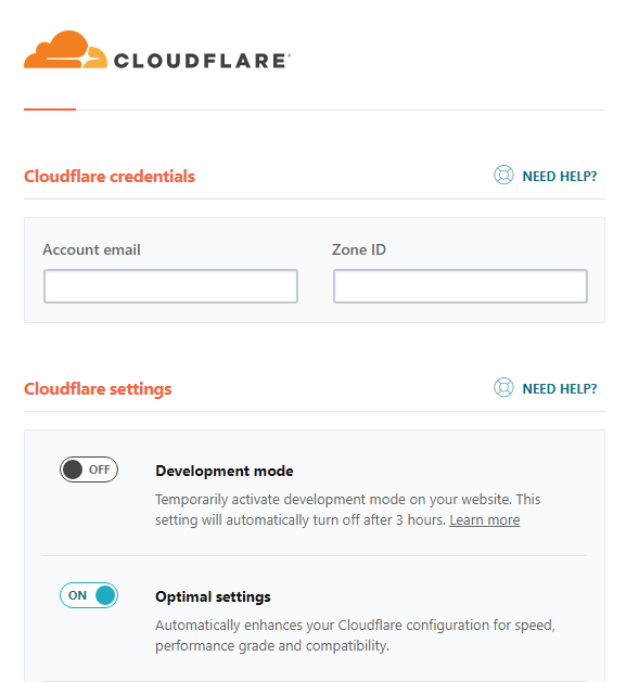 Hide CloudFlare API keys in WP Rocket